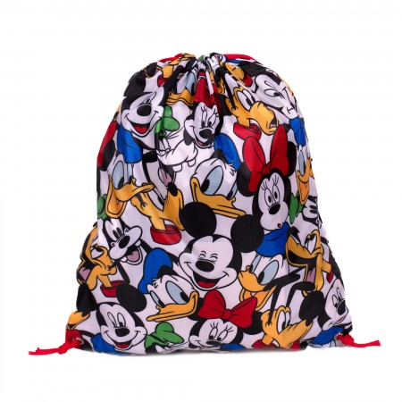 Disney Faces All Over Drawstring Bag