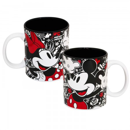 Mickey And Minnie Mouse Ceramic Coffee Mug
