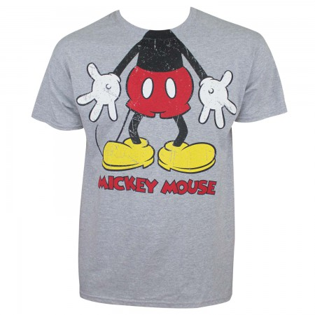Mickey Mouse Men's Grey Costume T-Shirt