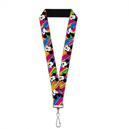 Mickey Mouse Bright Rainbow Lanyard