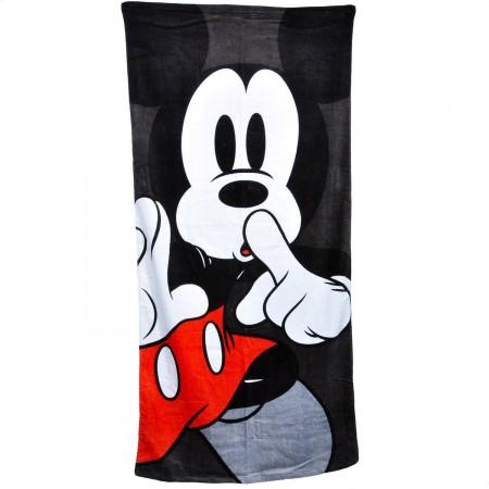 Mickey Mouse Shhh 28x58 Classic Beach Towel