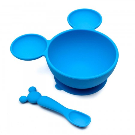Mickey Mouse Blue Suction Feeding Set