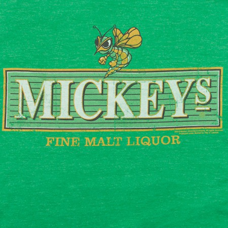 Mickey's Fine Malt Liquor Logo Men's Green T-Shirt