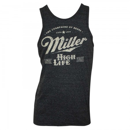 Miller High Life Men's Charcoal Tank Top