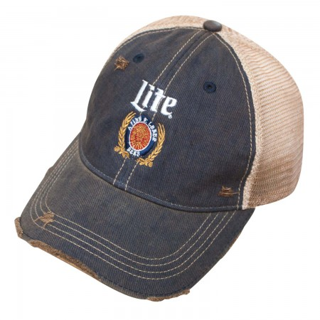 Miller Lite Retro Brand Denim Trucker Hat