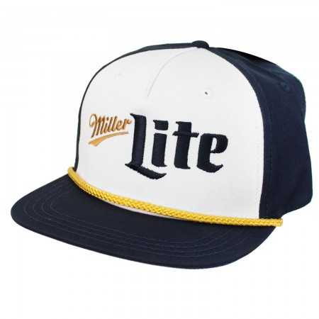 Miller Lite Blue and Gold Vintage Logo Hat
