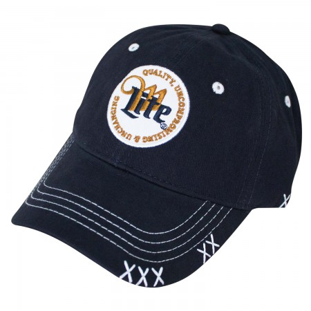 Miller Lite Quality Circle Logo Navy Blue Men's Hat