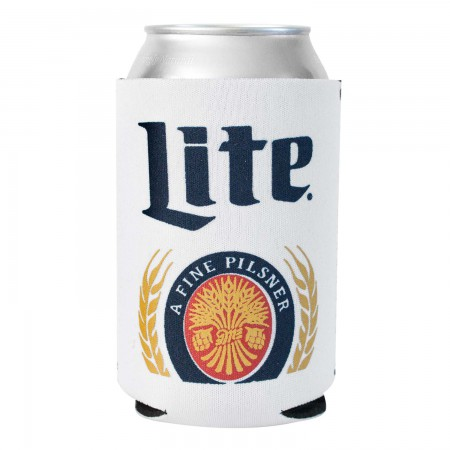 Miller Lite White Foam Can Cooler