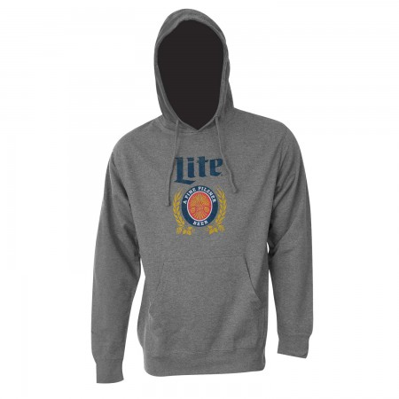 Miller Lite Beer Vintage Logo Men's Heather Grey Hoodie