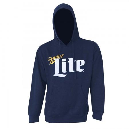 Miller Lite Classic Logo Navy Blue Hoodie