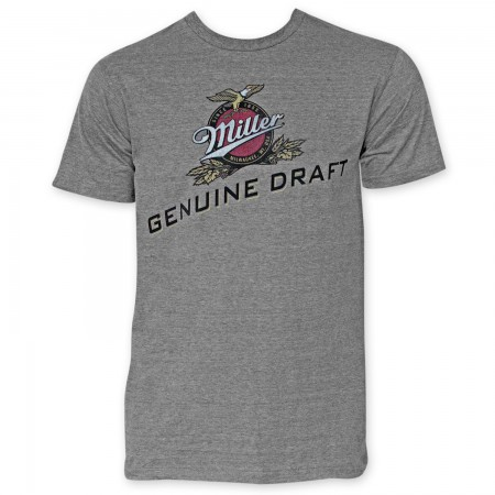 Miller Genuine Draft Heather Grey T-Shirt
