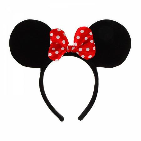 Minnie Mouse Black Costume Ears Headband