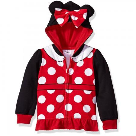 Minnie Mouse Costume Toddler Girls Hoodie Sweatshirt