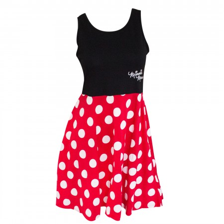 Minnie Mouse Red Polka Dot Ladies Dress