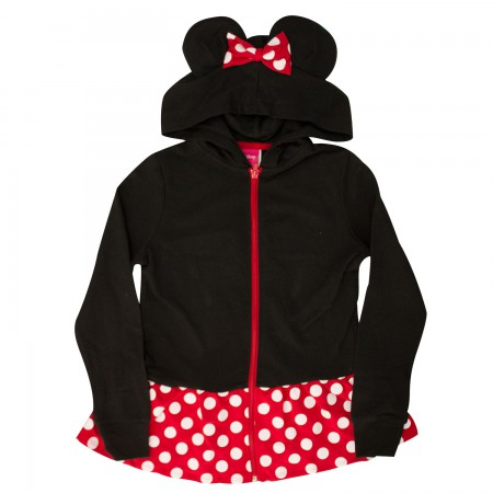 Minnie Mouse Girl's Black Ears Costume Hoodie