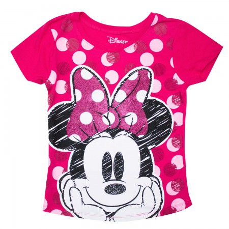 Minnie Mouse Girls 7-16 Youth Pink T-Shirt