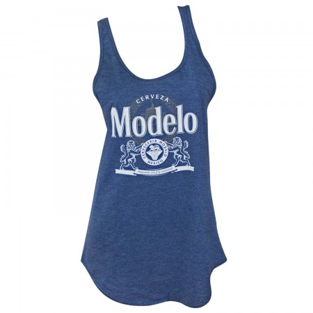 Modelo Women's Navy Blue Racer Back Tank Top