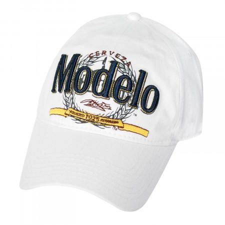 Modelo White Large Logo Strap Back Hat
