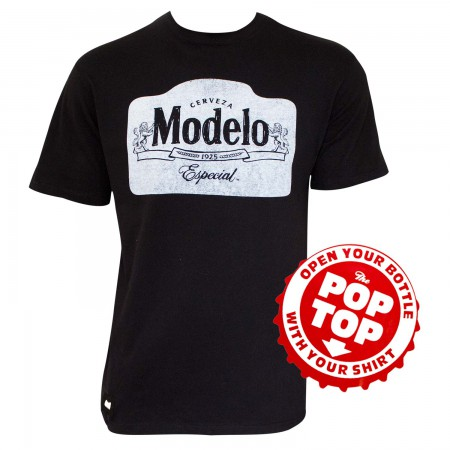 Modelo Especial Men's Black Pop Top Bottle Opener T-Shirt