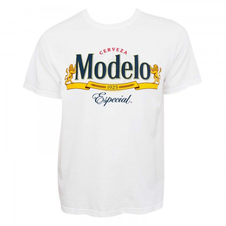 Modelo Cerveza Men's White Beer Logo T-Shirt