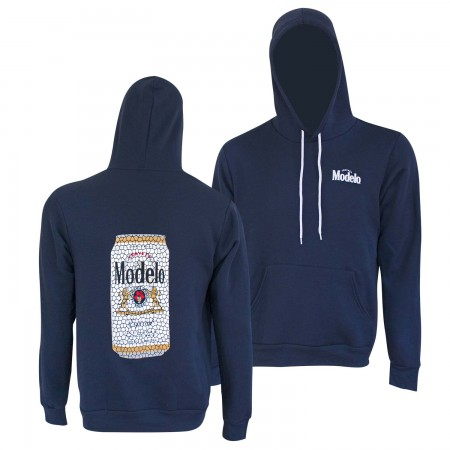 Modelo Stained Glass Can Navy Blue Hoodie