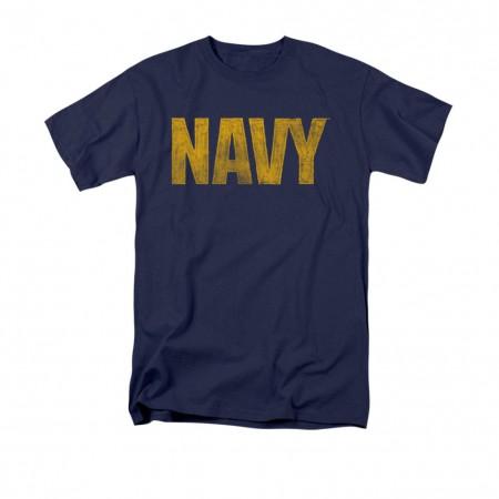 US Navy Logo Blue T-Shirt