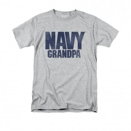 US Navy Grandpa Gray T-Shirt