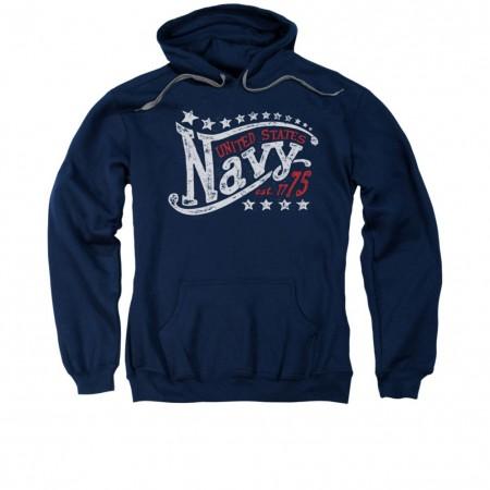 US Navy Stars Blue Pullover Hoodie