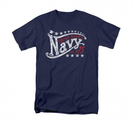 US Navy Stars 1775 Blue T-Shirt