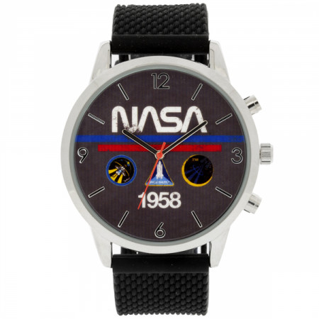 NASA 1958 Analog Watch with Silicone Band