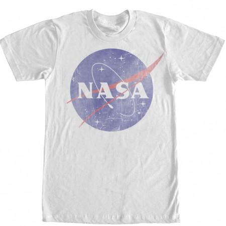 NASA Classic Logo Men's White T-Shirt