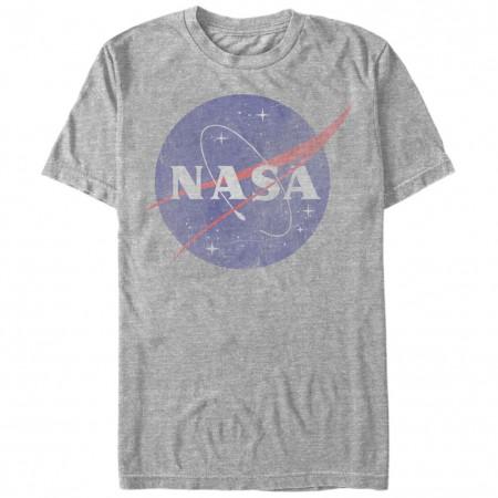 NASA Classic Logo Men's Grey T-Shirt