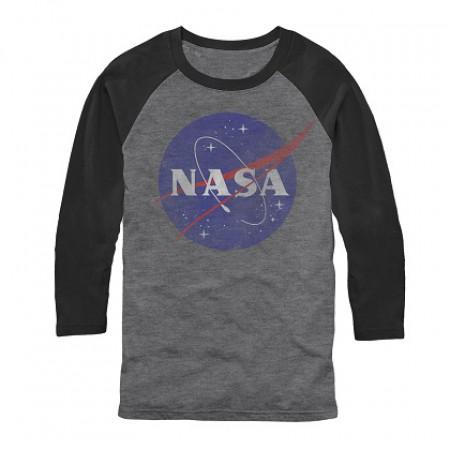 NASA Long Sleeve Men's Grey Raglan Shirt