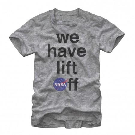 NASA We Have Lift Off Men's Grey T-Shirt