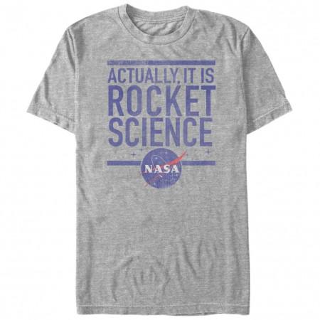 NASA Rocket Science Men's Grey T-Shirt