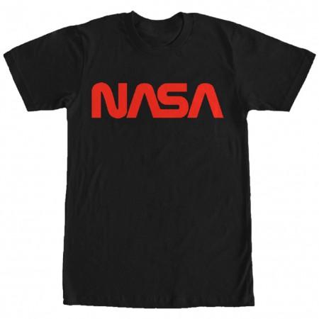 NASA Black and Red Men's T-Shirt