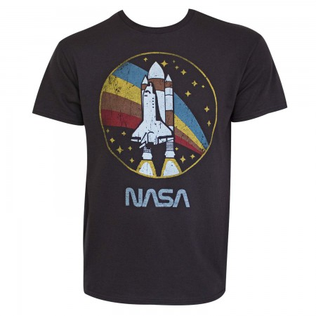 NASA Men's Grey Shuttle Launch Tee Shirt