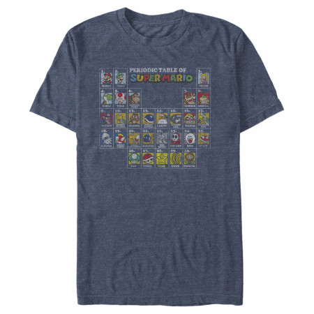 Super Mario Nintendo Periodic Table T-Shirt