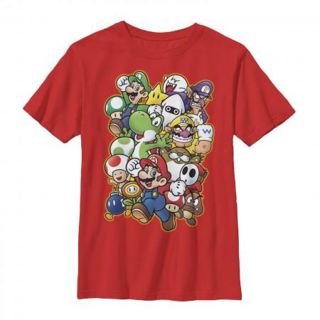 Nintendo Mario Showdown Red Youth Boys 8-20 T-Shirt