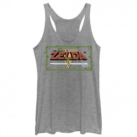 Nintendo Legend Of Zelda Title Gray Juniors Tank Top
