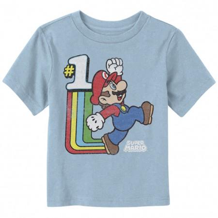 Mario Old School Cool Toddlers Tshirt