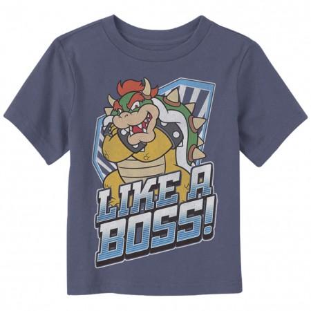 Mario Bowser Boss Toddlers Tshirt
