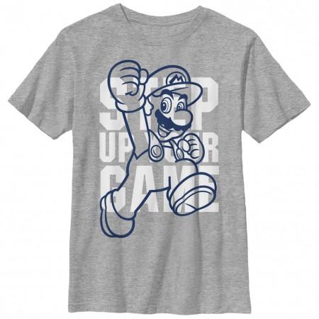 Nintendo Mario Training Gray Unisex Youth T-Shirt