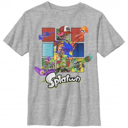 Nintendo Splat Squares Gray Unisex Youth T-Shirt