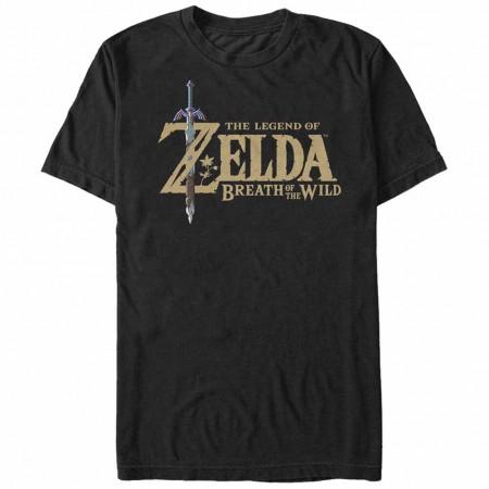 Nintendo Legend of Zelda Breath of the Wild Logo Black T-Shirt