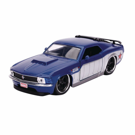 """Winter Soldier 1970 Ford Mustang Boss Diecast Metal 5"""" Movie Car by Jada Toys"""