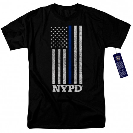 New York City NYPD Patriotic Men's Black T-Shirt