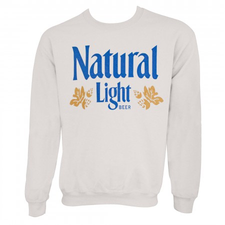 Natural Light Men's Vintage Logo Off-White Crewneck Sweatshirt