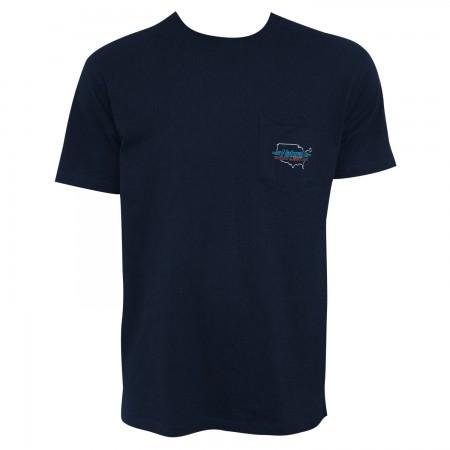 Natural Light Men's Navy Blue Proud American Pocket T-Shirt