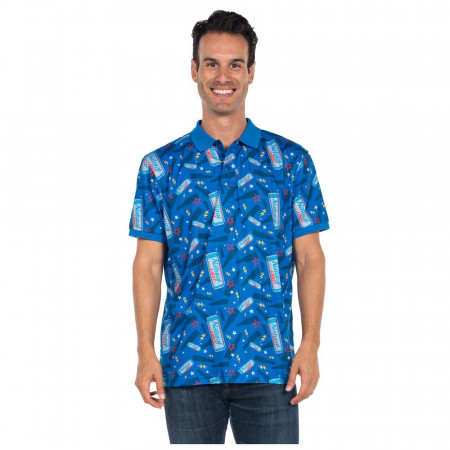 Natural Light Men's Blue Polo Shirt